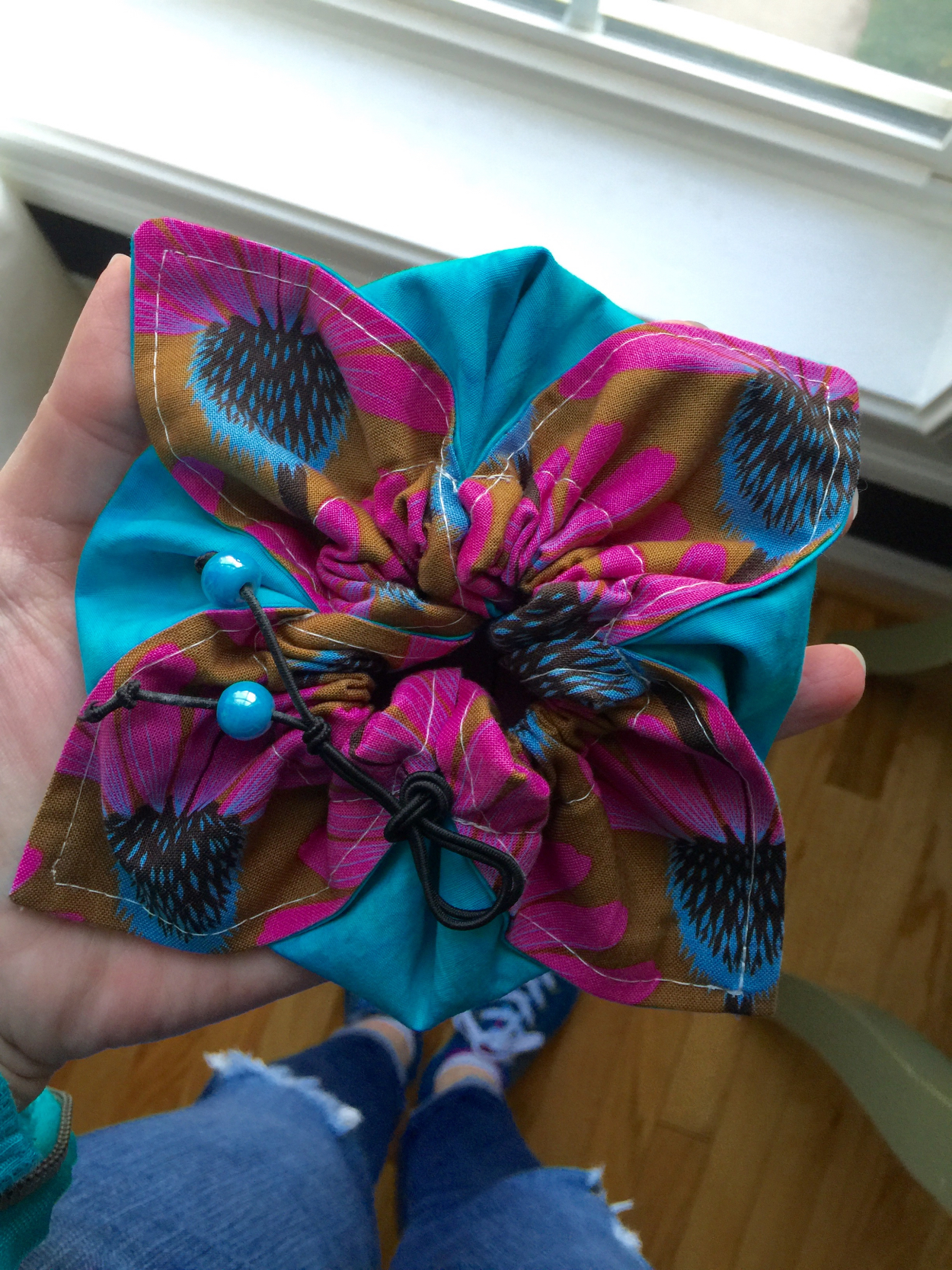 Inspired Project #5: Drawstring Petal Pouch