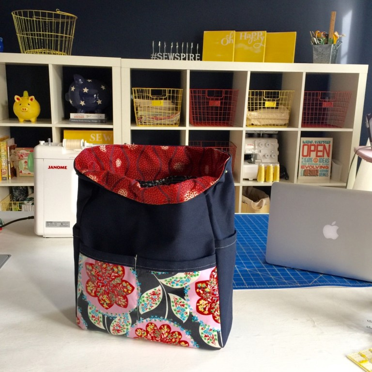 How to Sew My City Slicker Tote by Andrea @Sewspire