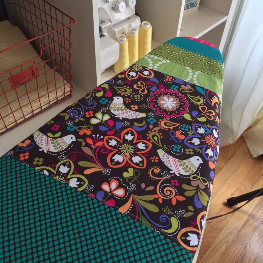 How to sew a pretty ironing board cover