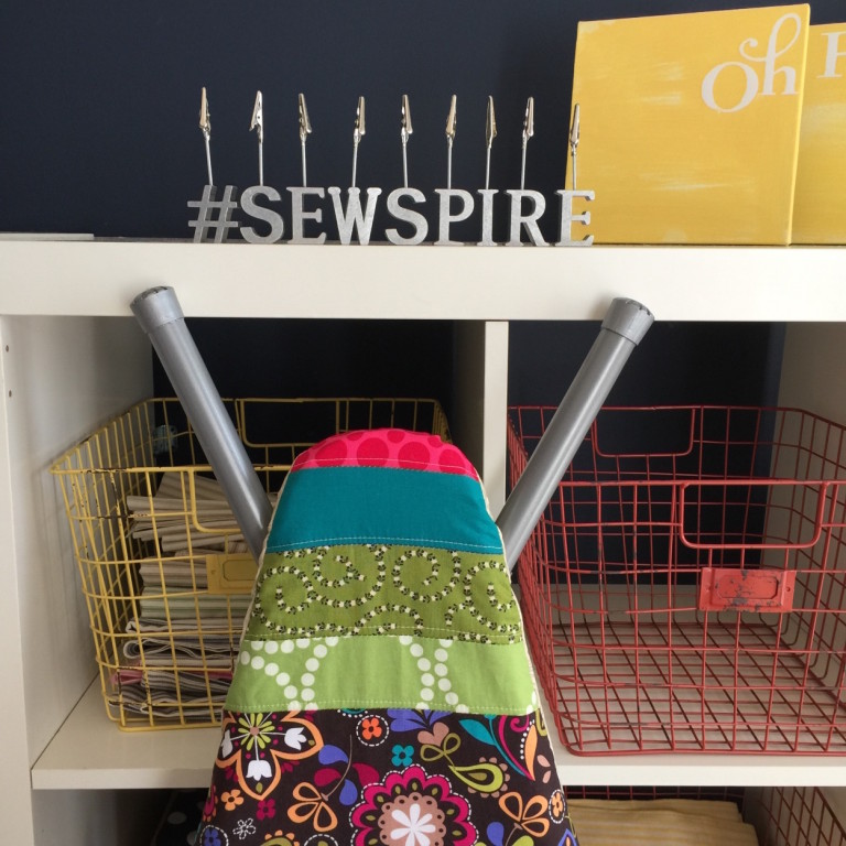 How to sew a pretty ironing board cover by Andrea @Sewspire