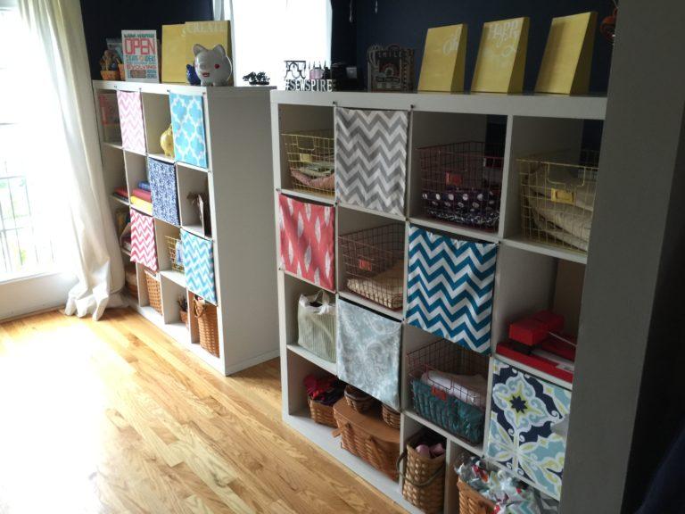 Ikea Expedit Bookshelf Sewing Hack