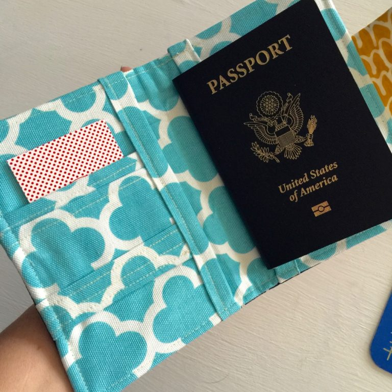How to sew a passport wallet