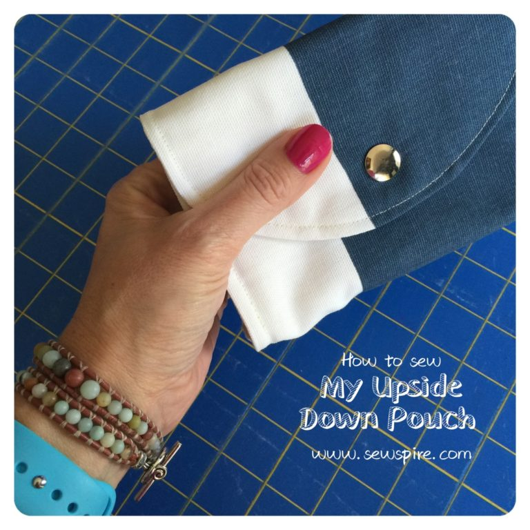 How to sew: My Upside Down Pouch