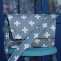 How to sew a cross body messenger tote bag