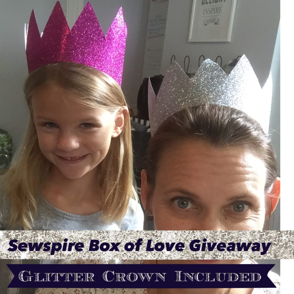 Handmade Glitter Crowns for a Crafty Queen!