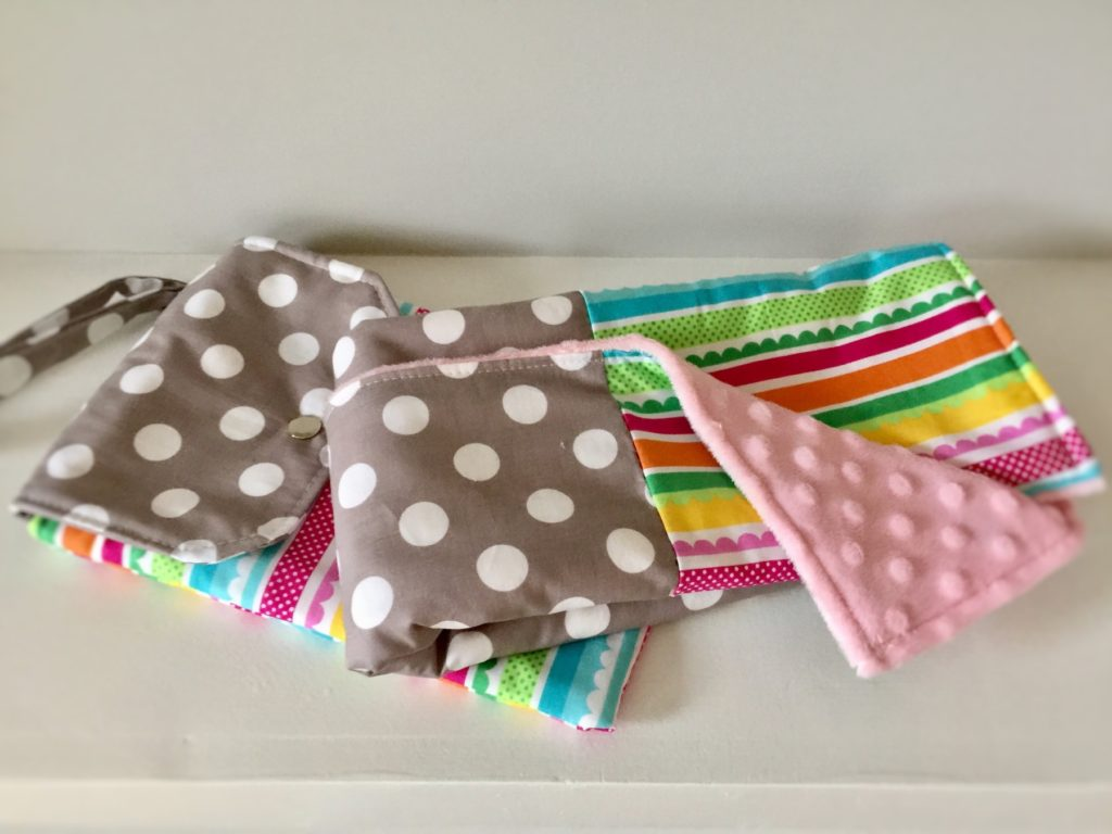 How to sew a changing pad and diaper clutch set