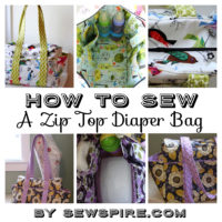 Sewspire Zip Top Diaper Bag Tutorial