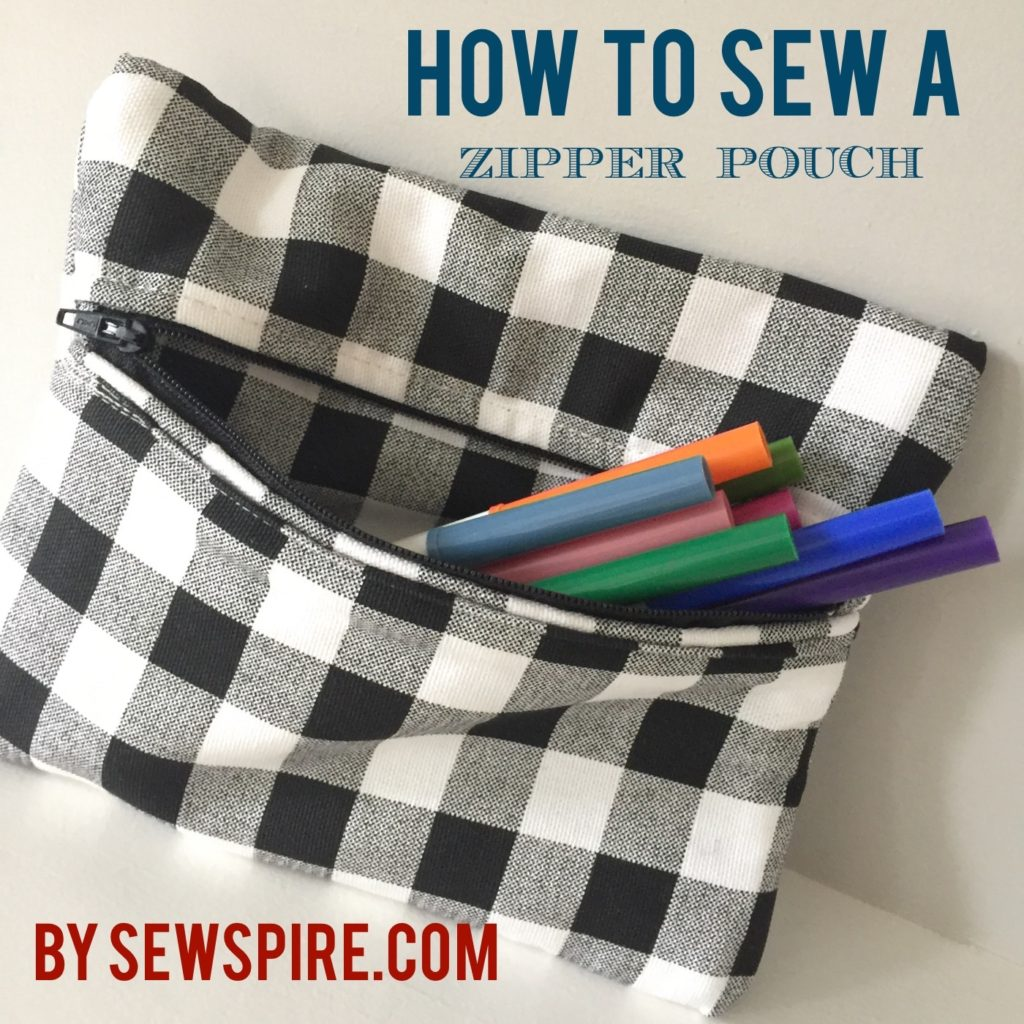 How to Sew A Zippered Pouch