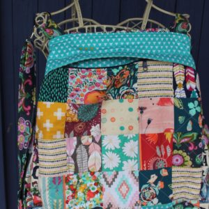 Convertible Patchwork Backpack by Sewspire