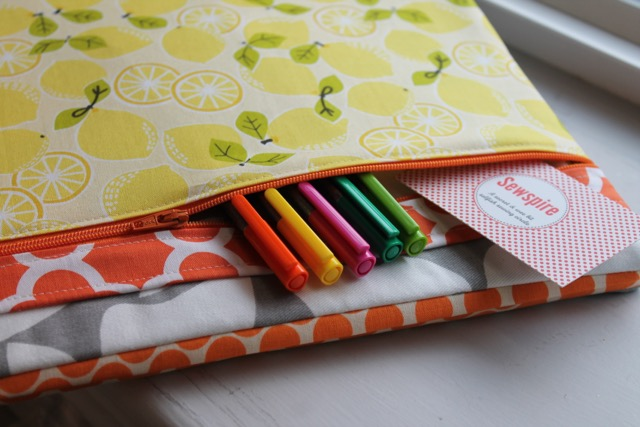 How to sew a three ring binder cover with zipper pocket