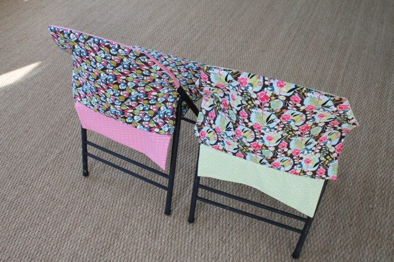 How to Sew A Reversible Folding Chair Slipcover