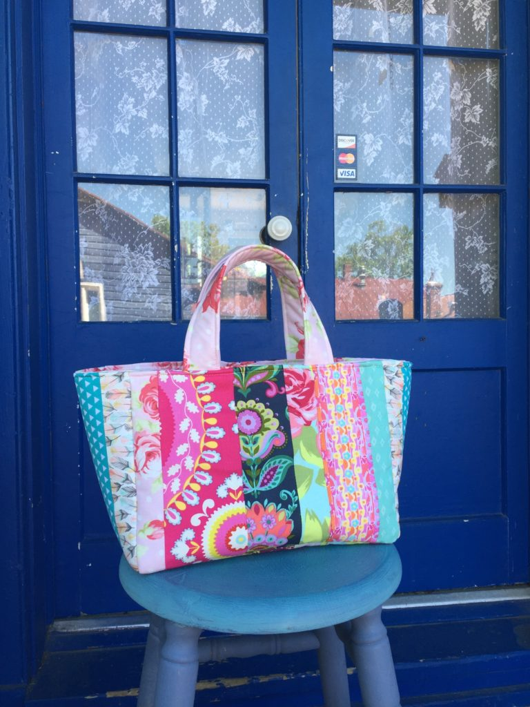 How to sew a patchwork tote bag