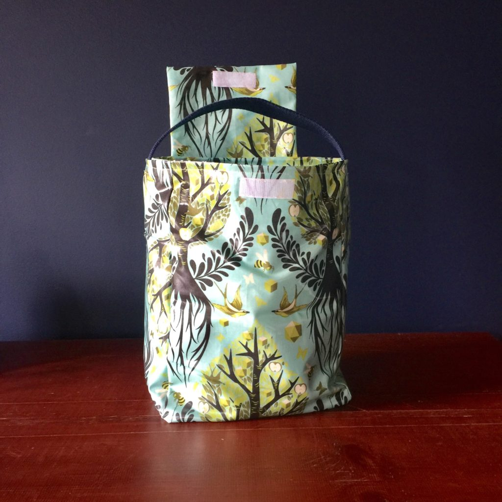 Sewspire 4 bottle laminated tote bag pattern