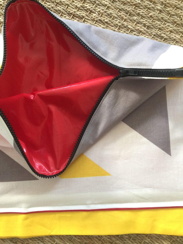 Beach Bag Collaboration: Zippered Interior Center Wet Bag Pocket