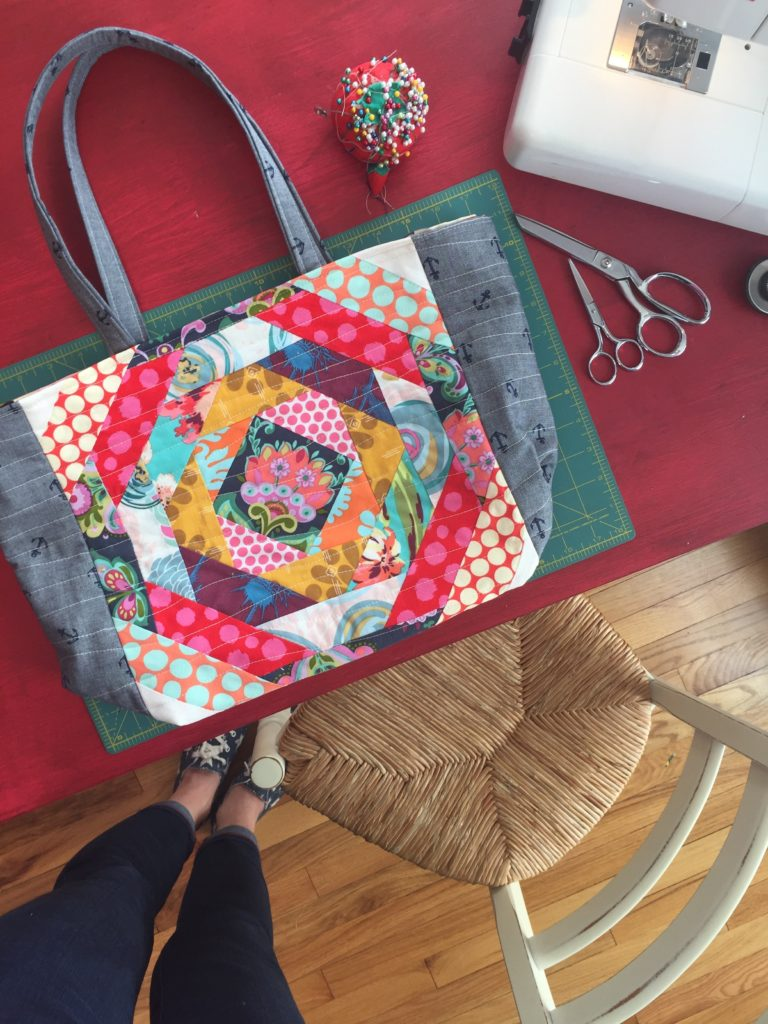 How to sew a pineapple square tote bag
