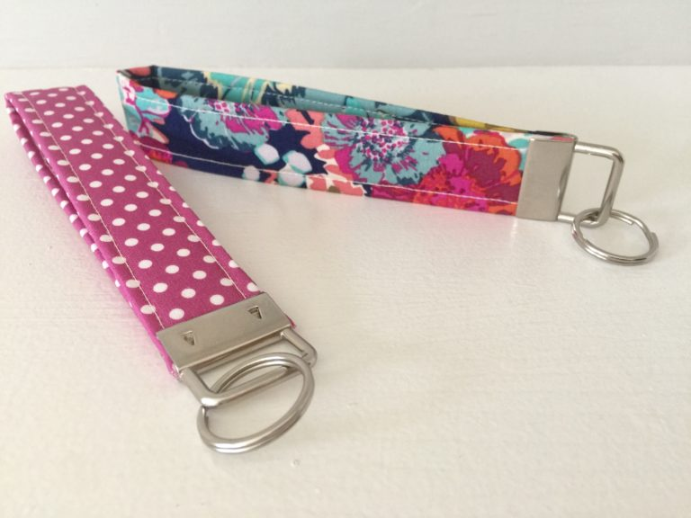 How to sew a wristlet key fob ring