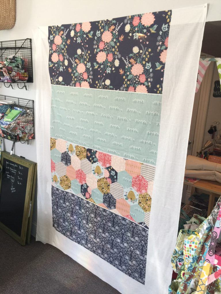 Whole cloth quilting concept