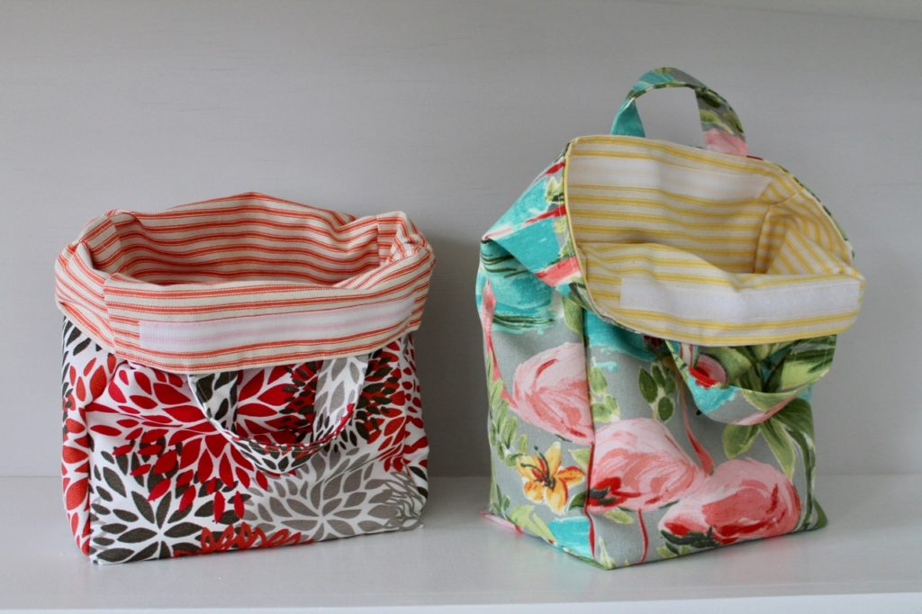 How to sew a reusable and washable lunch tote bag