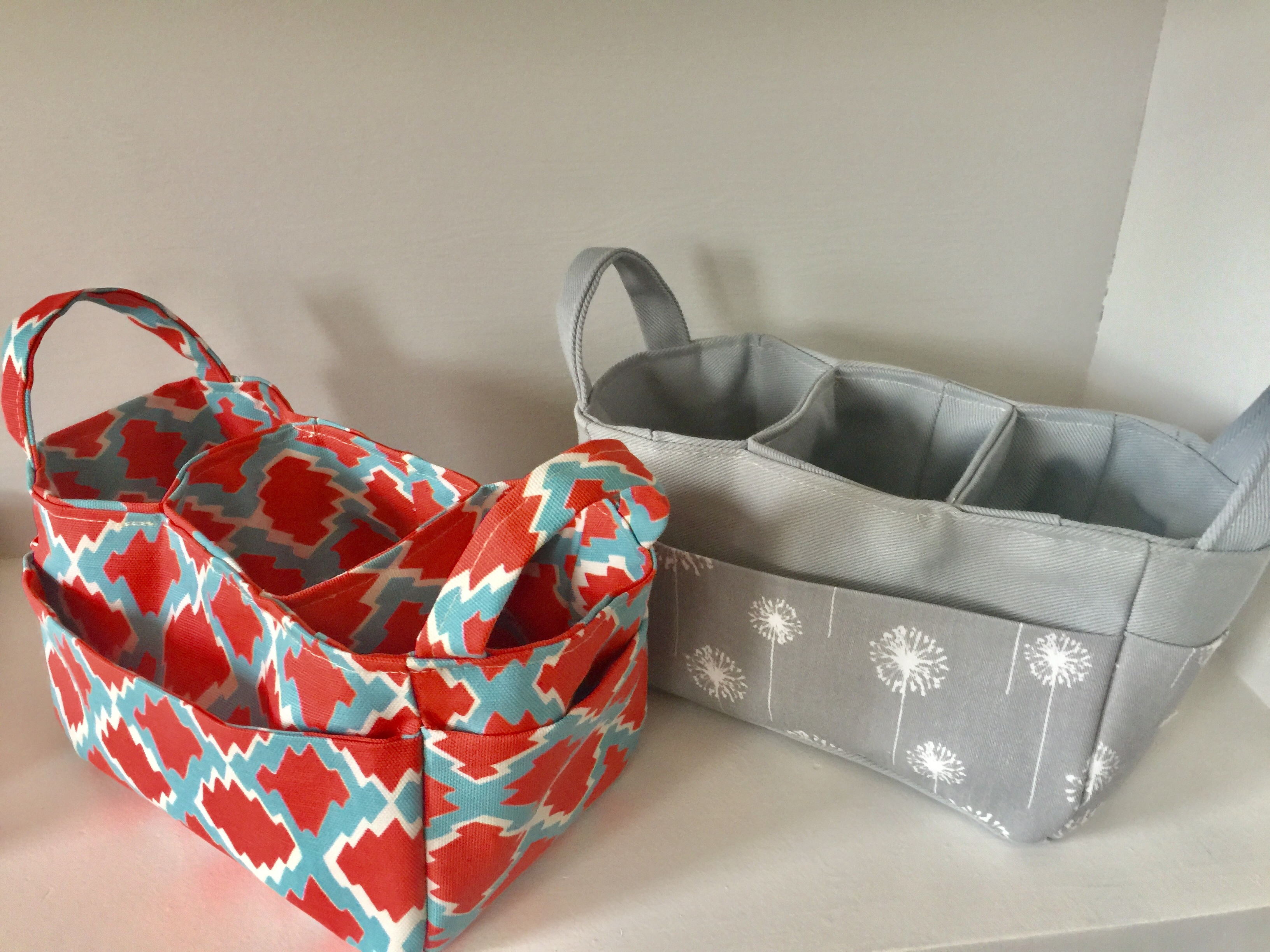 How to sew a three way divided organizer caddy + fabric giveaway and ...