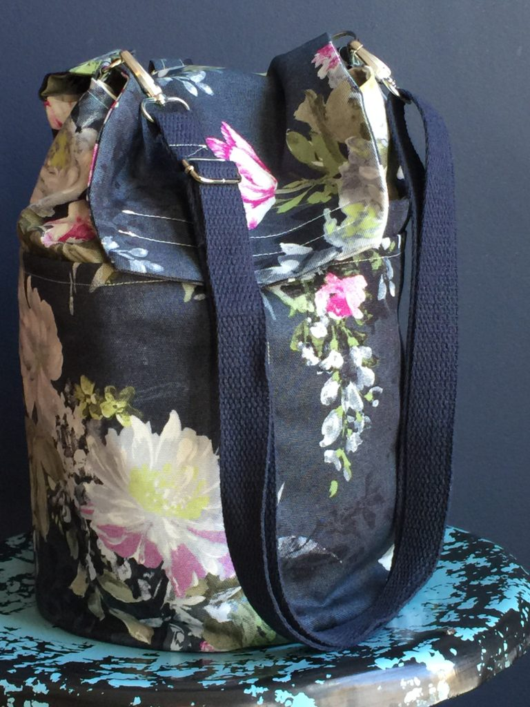 How to sew a bucket style convertible backpack crossbody hip bag ...