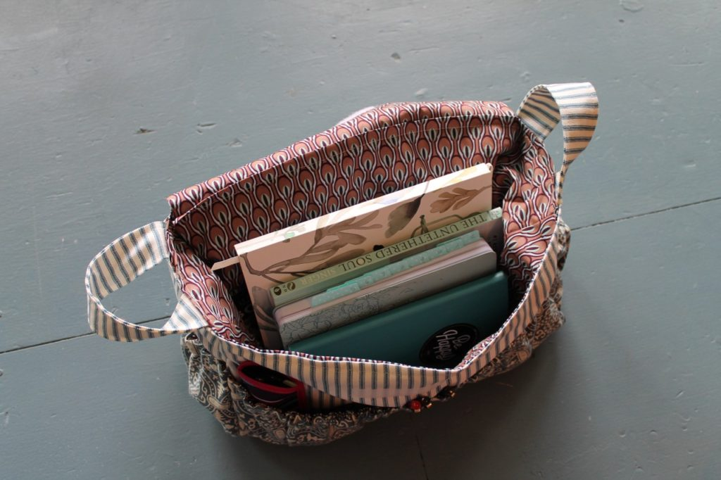 How to sew a large purse tote bag organizer