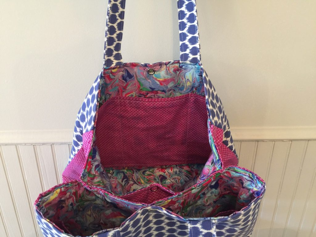 How to sew a yoga tote bag the Sewspire Way
