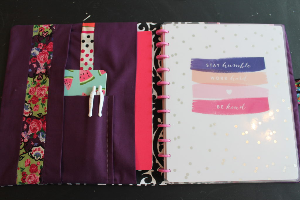 How to sew a planner cover with button tab closure