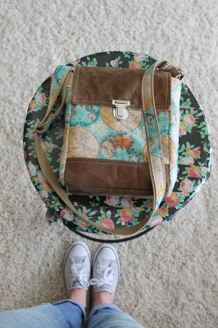 How to sew a sassy little Press Lock Purse & Crossbody Bag
