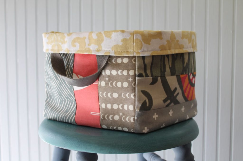 How to sew a large scrappy bin