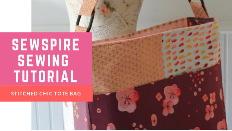 How to Sew a Stitched Chic Tote Bag with Zippered Tote Bag