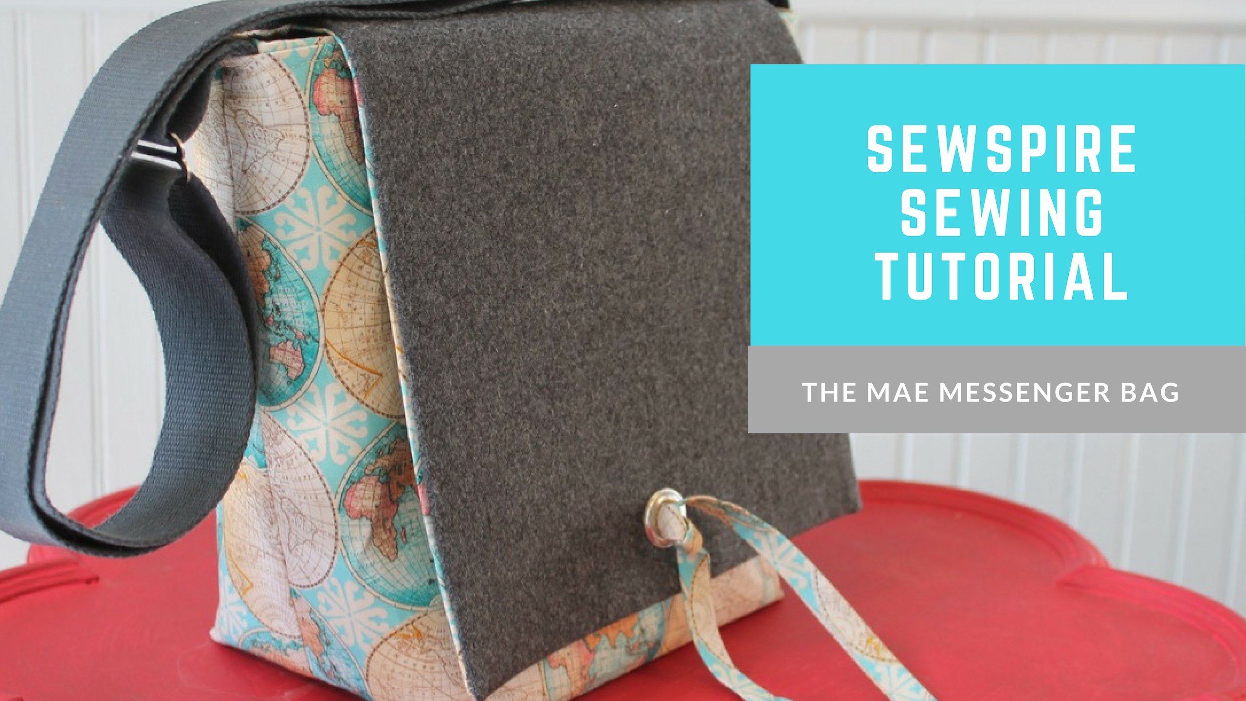 How to sew The Mae Messenger Tote Bag by Sewspire