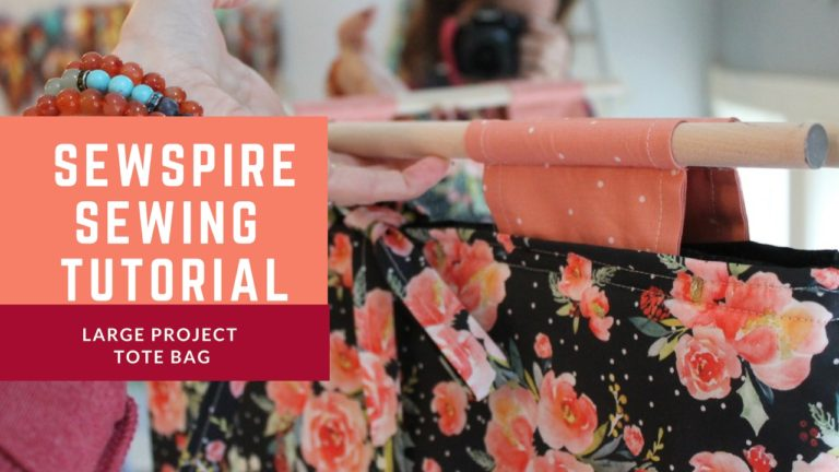How to sew a large project bag to carry to and fro