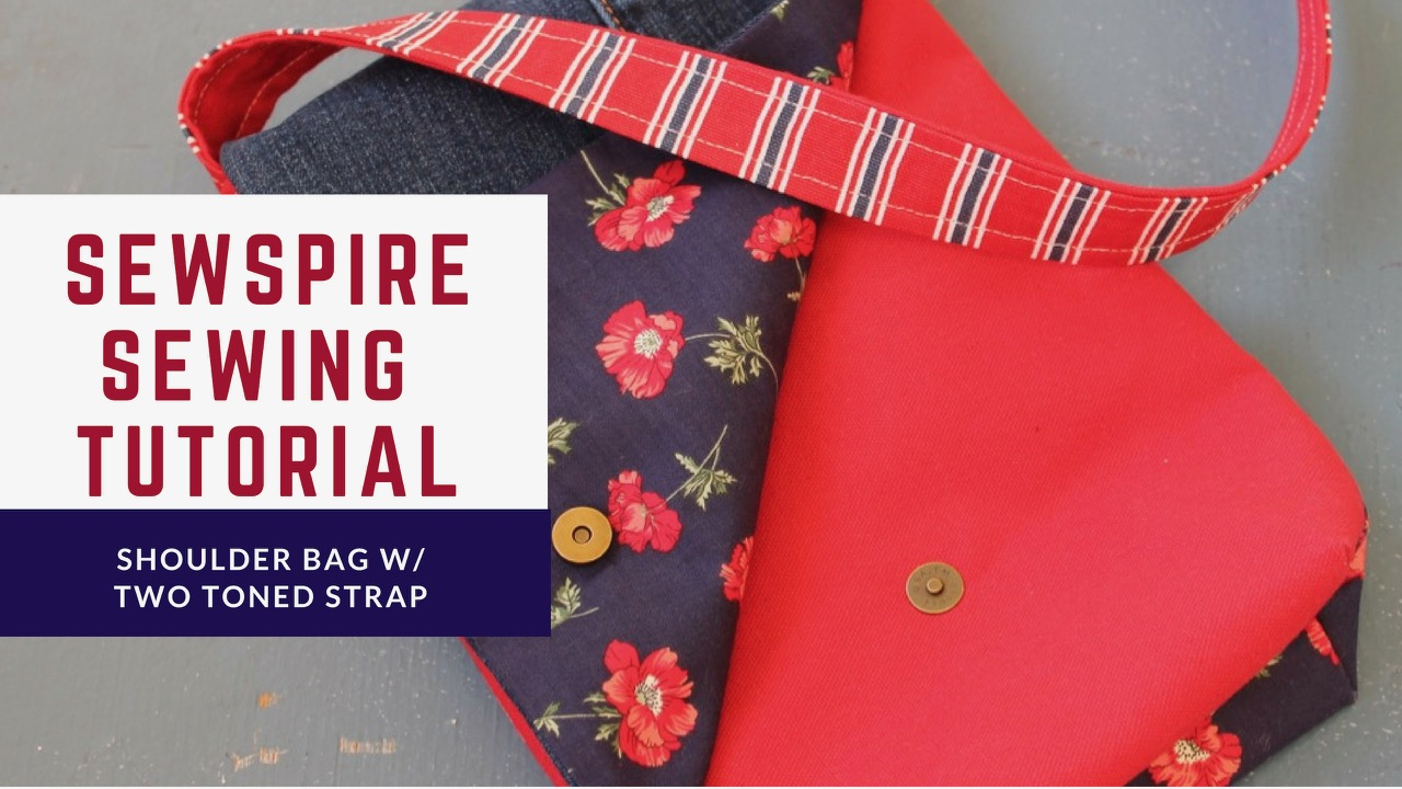 How to sew a shoulder bag with two toned strap