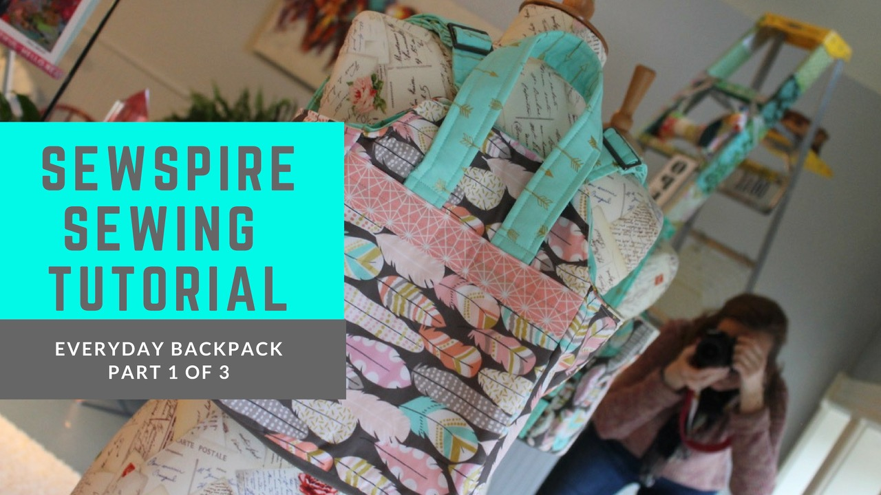 How to Sew the Everyday Backpack by Sewspire