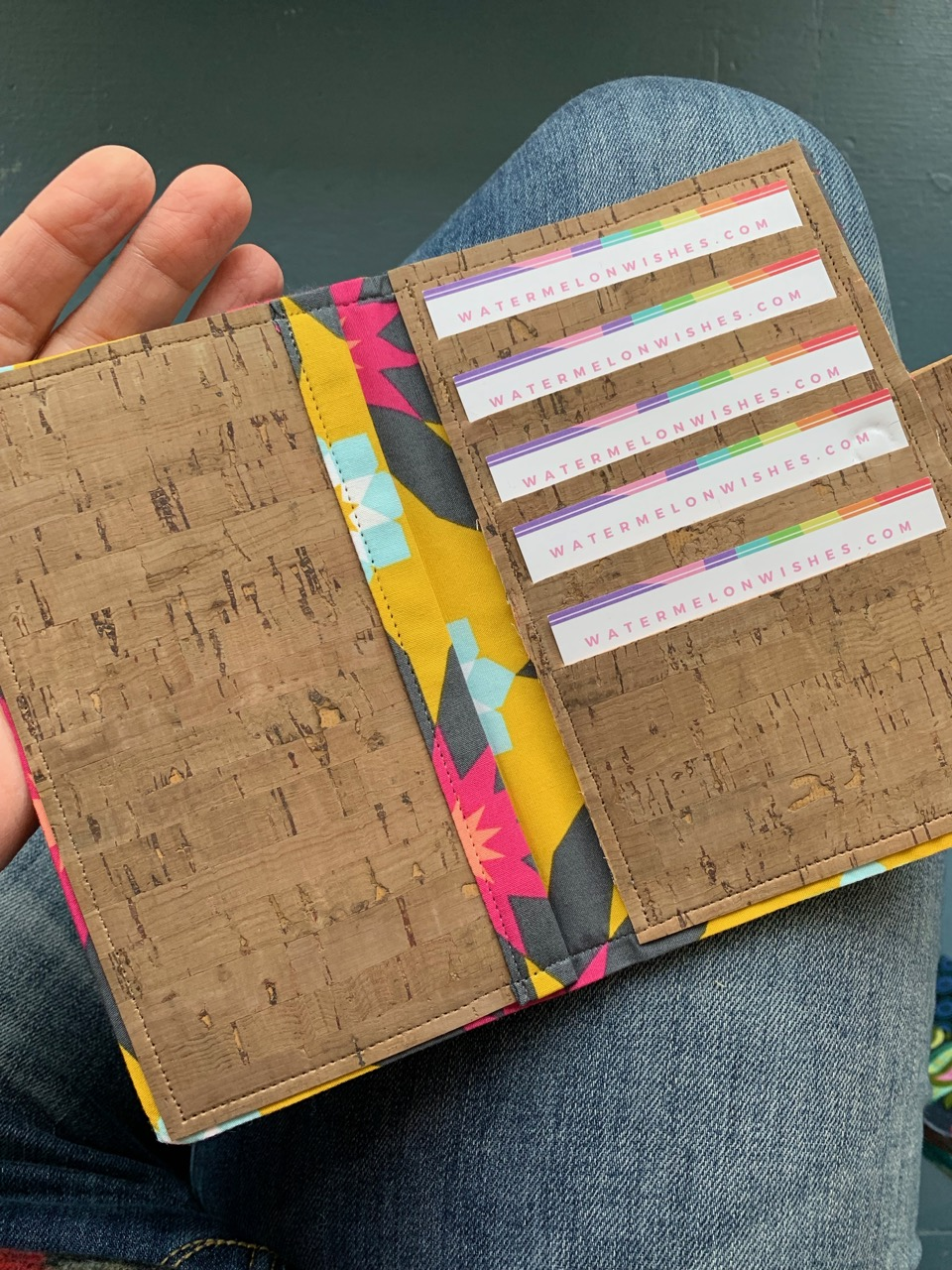 How to sew a Pixie Wallet to hold your passport and cards