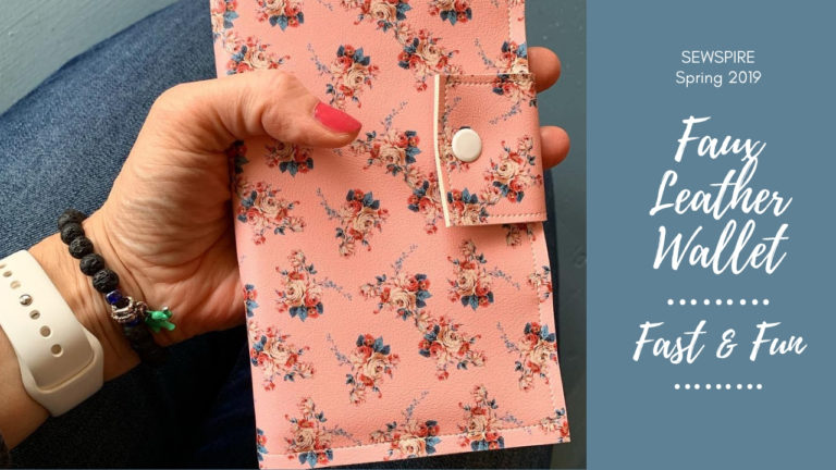 How to sew a faux leather wallet without a pattern