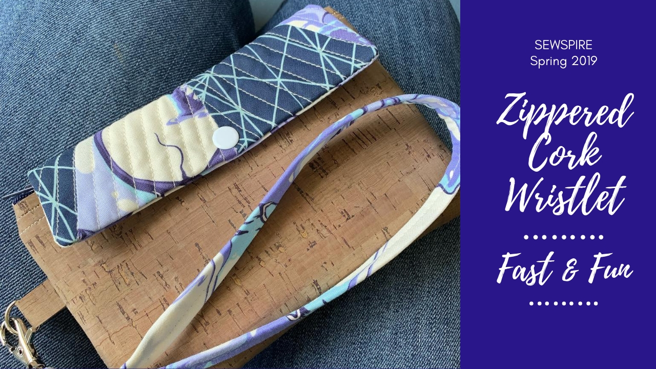 How to Sew A Zippered Cork Wristlet Wallet by Sewspire