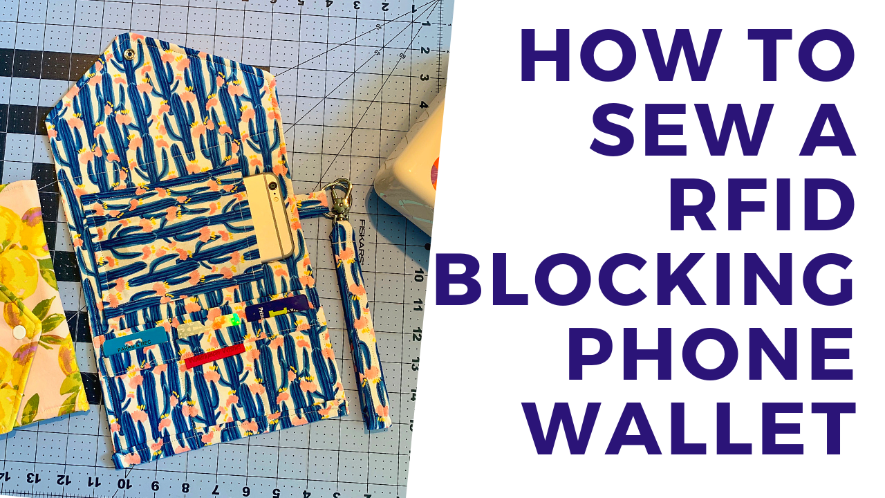 How to sew a wallet with RFID blocking fabric