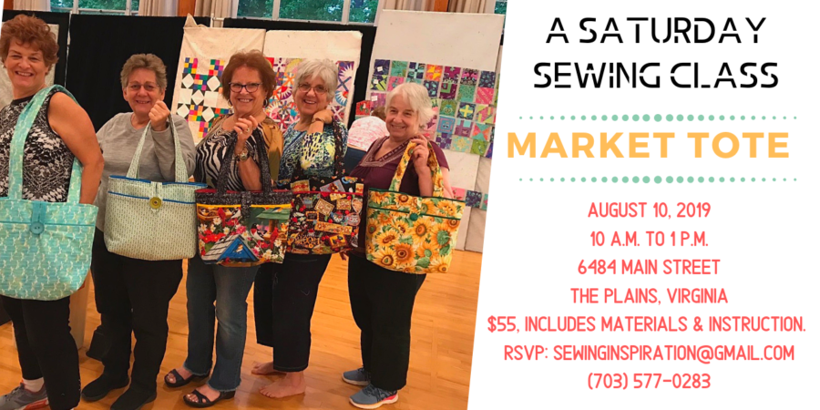 Market Tote Bag Sewing Class