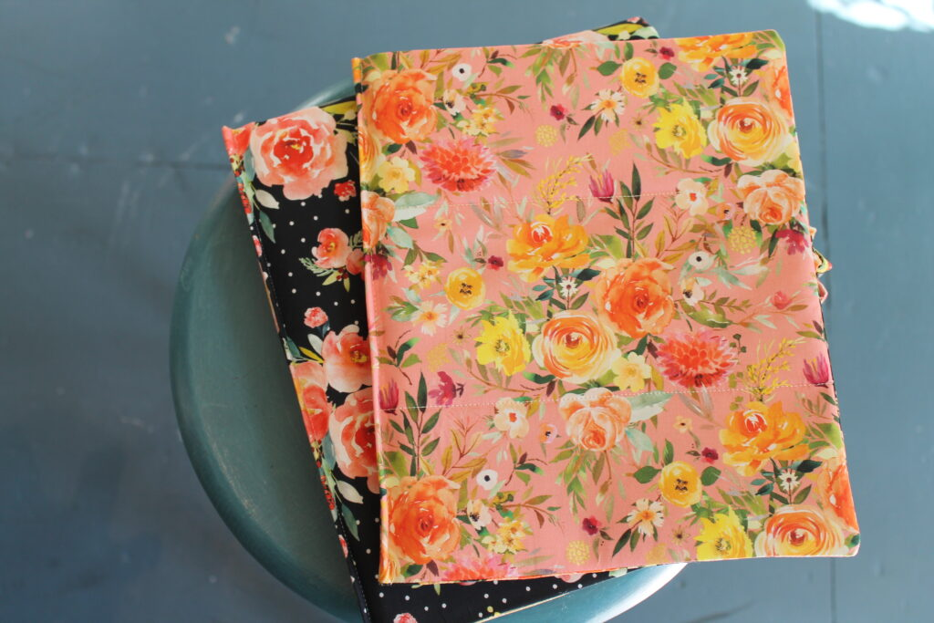 How to sew a handmade custom fit book cover by Sewspire