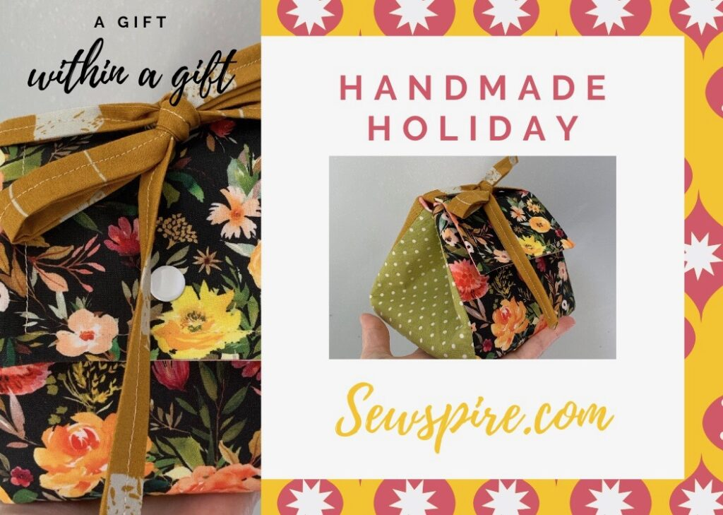 How to sew a fabric gift box with tie-snap-flap closure