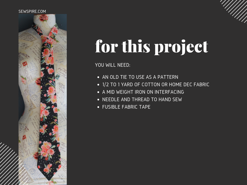 How to make a custom necktie