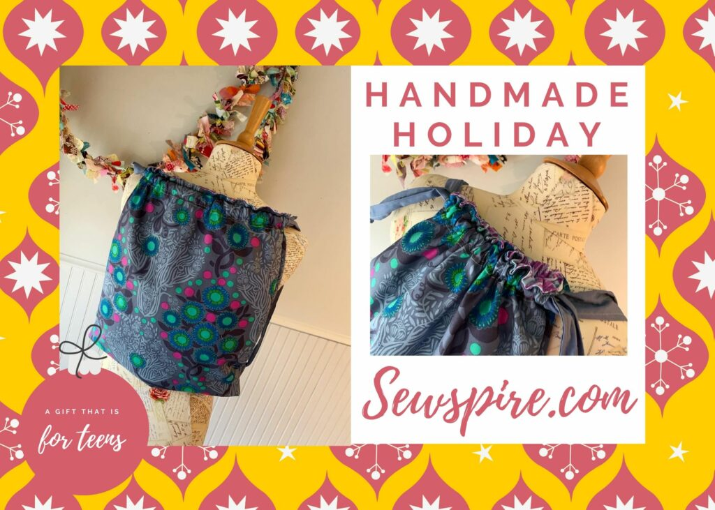 Handmade Holiday Series: How to sew a drawstring backpack