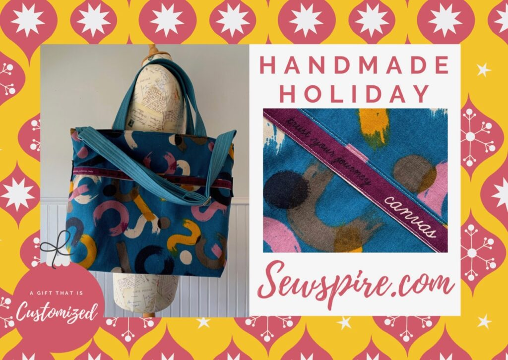 Handmade Holiday Series: How to sew a large customizable Journey Tote bag