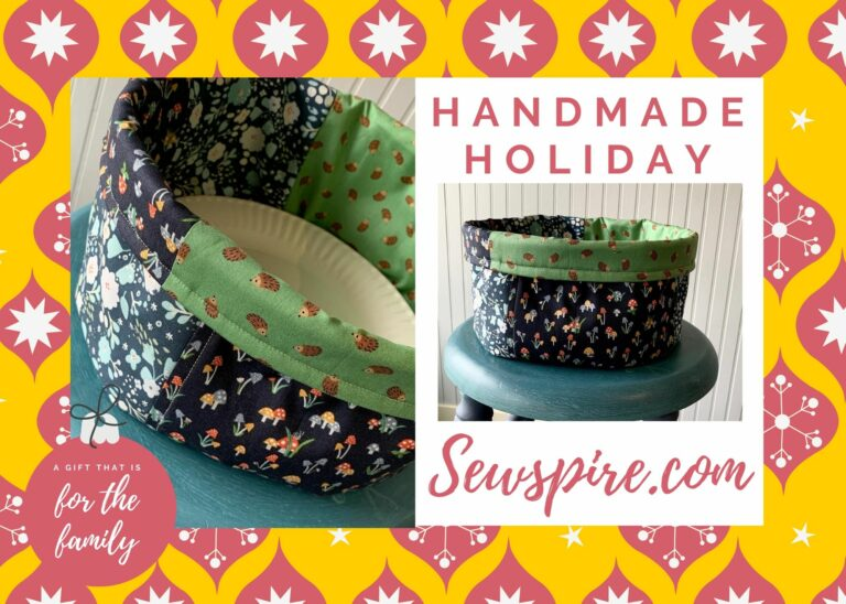 Handmade Holiday Series: How to sew a round fabric bin to hold paper plates and more