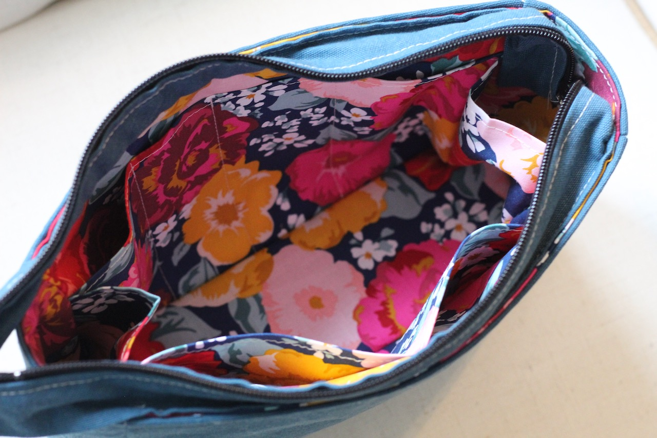 Boxy Zippered Cosmetic Tote Bag
